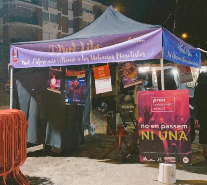 EL PUNT LILA EN ENTORNS DE FESTA I OCI